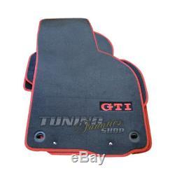 4x Original VW Gti Premium Velours Tapis de Sol Nattes Kit pour la Golf 5 V 6 Vi