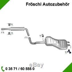 Audi A3 VW Beetle Golf 4 1,8 2,0 2,3 V5 Gti Pot Moyen Silencieux Arrière Kit 7 #