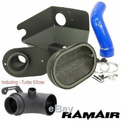 Bleu ramair Air Filtre Stage 2 Admission Turbo Coude Kit For Vw Golf mk7 TSI Gti