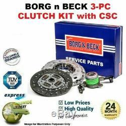 Borg N Beck 3PC Kit Embrayage avec Csc pour VW Golf 1.8 T Gti 2001-2005