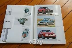 Brochure Presse Kit Dossier 1991 VW POLO G40 GOLF COUNTRY GTI CORRADO G60 French