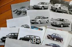 Brochure Presse Kit Dossier 1993 VW POLO G40 GOLF VR6 GTI CORRADO PASSAT French