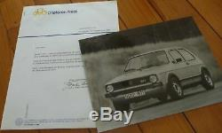 Brochure Presse Kit Dossier Photo 1975 VW GOLF GTI Prospekt Catalogue Dépliant