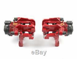 Étriers Selle de Freinage Kit Arrière Rouge VW Golf R Gti Seat Leon Cupra Audi