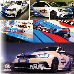 KIT MARTINI RACING GOLF MK5 6 7 GTI stickers sticker autocollant VOLKSWAGEN