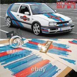KIT RACING GOLF MK 3 GTI stickers autocollant Le Mans Rallye décoration