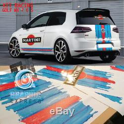 KIT RACING GOLF MK 7 6 5 GTI stickers autocollant VOLKSWAGEN Le Mans