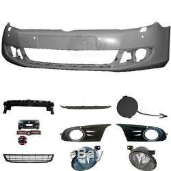 Kit Pare-Chocs Apprêté+Transporteur+Accessoire+Brouillard VW Golf VI 6