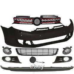 Kit Pare-Chocs+Brouillard+Accessoires Pour VW Golf 6 5K Bj. 08-12 Pour Pdc Sra