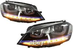 Kit pour VW Golf 7 VII 12-17 Grille Phares Diffuseur Jupes latérales GTE Look