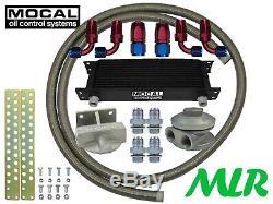 Mocal 3/4 Huile Refroidisseur Sortie Côté Télécommandé Limes Kit VW Golf Gti