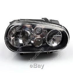 Pair Noir Projector Halo Phares Gauche & Droite Pour VW Golf Gti Mk4 1999-2006