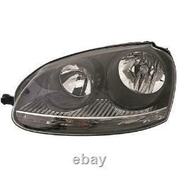 Phares Kit pour VW Golf V 5 Année Fab. 04-08 Noir Hella Incl. Philips Lampes