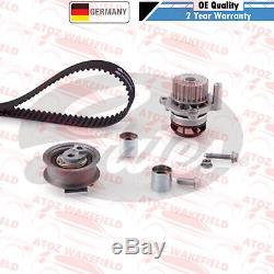 Pour VW Golf Gti Mk5 Original Chaîne de Distribution Gates Kit Pompe à Eau Set