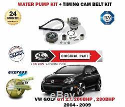 Pour Volkswagen VW Golf 2.0 Gti 2004- Tendeur Courroie Distribution+Kit Pompe
