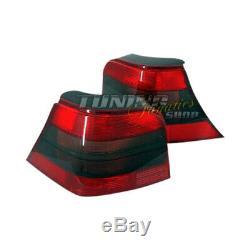 Pour Vw Golf 4 IV R32 Feux Arrières Ensemble Rouge & Noir 25 Jubi Gti