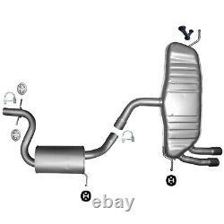 Pour Vw Golf 5 2,0 Gti 200 Ps 147kW komplette Auspuffanlage Endtopf Mitte Kit f