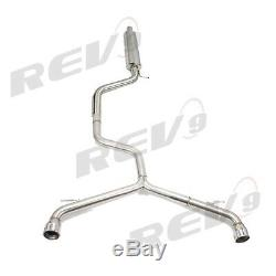 REV9 Catback Droit Tuyau Échappement Kit pour VW Golf Gti MK7 15-17 2.0T Turbo