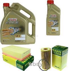 Révision Filtre Castrol 6L Huile 5W30 Pour VW Golf VII 5G1 BE1 2.0 Gti 1.8