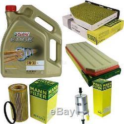 Sketch D'Inspection Filtre Castrol 5L Huile 5W30 Pour VW Golf VI 5K1 2.0 de Gti
