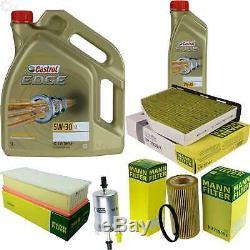 Sketch D'Inspection Filtre Castrol 6L Huile 5W30 pour VW Golf V 1K1 2.0 de Gti