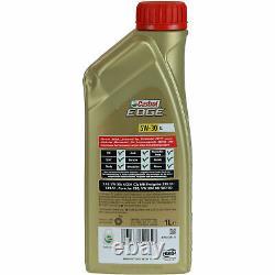 Sketch D'Inspection Filtre Castrol 6L Huile 5W30 pour VW Golf VI 5K1 2.0 Gti
