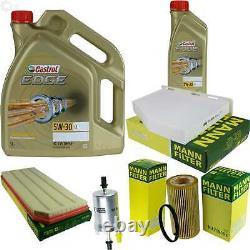 Sketch D'Inspection Filtre Castrol 6L Huile 5W30 pour VW Golf VI 5K1 2.0 de Gti