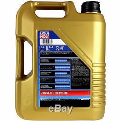 Sketch D'Inspection Filtre Huile Liqui Moly 6L 5W-30 pour VW Golf V 1K1 2.0 Gti