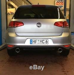 VW GOLF 7 GTI LOOK Kit échappement Sport approche POUPE Diffuseur TDI TSI GTD