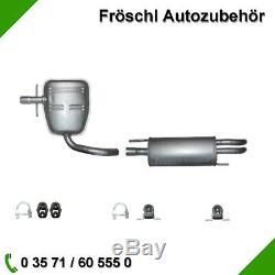 VW Golf 3 1.6 2.0 Gti Compléter Échappement Abgas Usine Silencieux Pot Kit 6 #