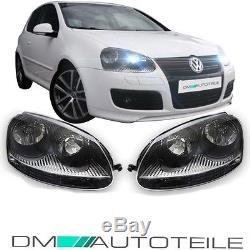 VW Golf 5 GTI Jetta III Look Kit Phares Verre clair/Noir Tous les modèles NEUF