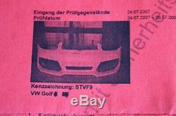 VW Golf 5 V Gt Gti Sport Mise au Point Armure Moto Kit Pare-Chocs avant Arrière