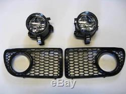 Vw Golf Bora Mk4 R32 Gti Rline Oem Grille & Lumière De Brume Kit &